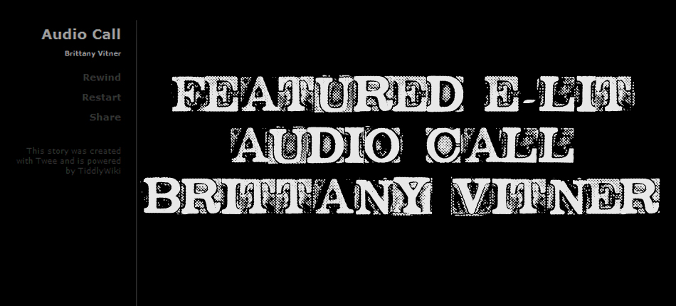 Featured E-Lit: Audio Call